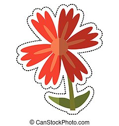 cartoon lily flower natural vector illustration eps 10