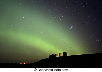 Northern Lights over Gardner Dam