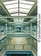 Industrial interior with glass roof - Spacious, industrial...