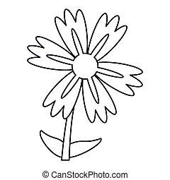 lily flower natural outline vector illustration eps 10