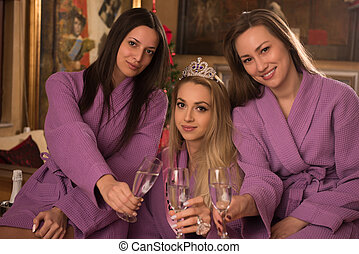 girls have a bachelor party