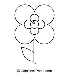 buttercup flower natural outline vector illustration eps 10