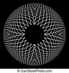 Abstract circle spherical design element. - Abstract circle...