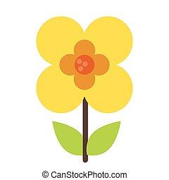 buttercup flower natural image vector illustration eps 10