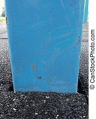 Frame in flexible tile for playground. Flexible floor -...