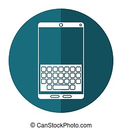 smartphone keypad display shadow vector illustration eps 10