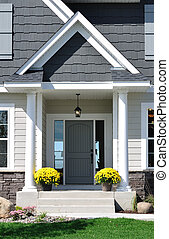 Front Entrance of a Residential Home - Front Entrance of a...
