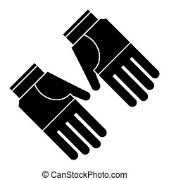gardening gloves protection pictogram vector illustration...