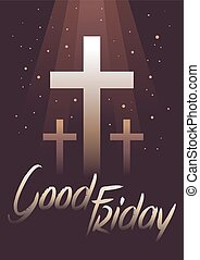 Good Friday With Dark Background - Vector stock of Good...