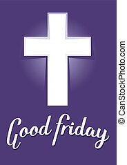 Good Friday With Purple Background - Vector stock of Good...