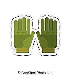 cartoon gardening gloves protection vector illustration