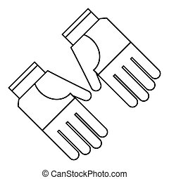 gardening gloves protection thin line vector illustration...