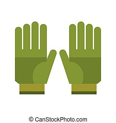 gardening gloves protection icon vector illustration eps 10