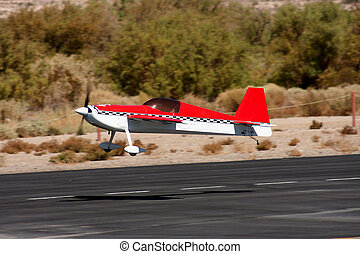 RC Air plane - RC remote controlled airplane model in action