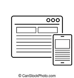 Responsive design line icon on white background