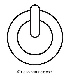 turn off - simple thin line turn off icon vector
