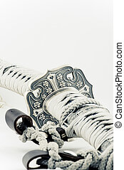 Samurai sword on a white background