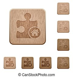 Default plugin wooden buttons - Default plugin on rounded...