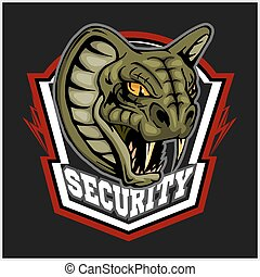 Mascot Cobra - logo for sport team. Snake mascot. Security,...