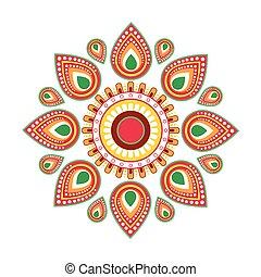 Happy Ugadi Gudi Padwa Hindu New Year Greeting Card Holiday...