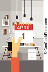 Fool Day April Holiday Greeting Card Banner Illustration