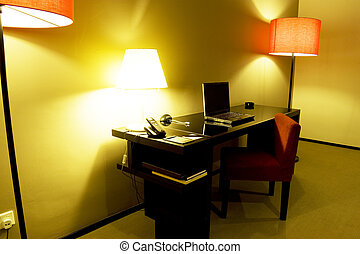 Writing Table - Image of a writing table in a bedroom.