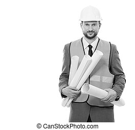 Professional male construction businessman with his...