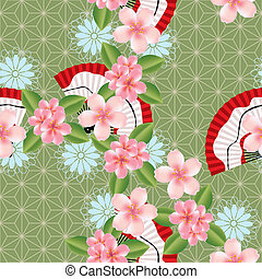 Abstract seamless japanese pattern. Illustration