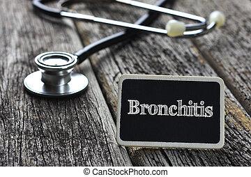 concept-bronchitis, palabra, pizarra, médico, escrito,...