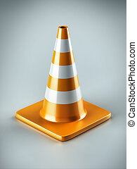 Traffic Cone - 3D Traffic Cone, barricade, mark