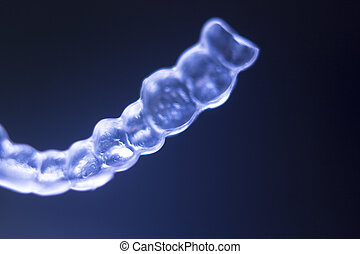 Invisible teeth brackets aligners - Invisible plastic modern...
