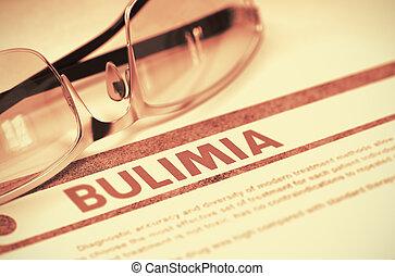bulimia, Ilustración, concepto, -, diagnóstico, Medicina, 3D...