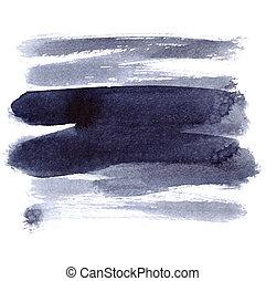 Brush strokes on the white background - Brush strokes...