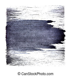 Bluish square with stroke - Bluish square with expressive...