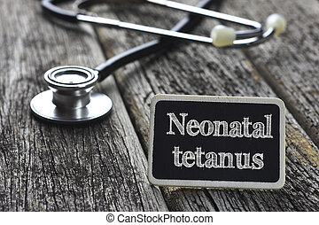 palabra, tétano, concept-, médico, Neonatal, escrito,...