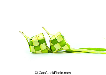 Ketupat (Rice Dumpling). Ketupat is a natural rice casing...