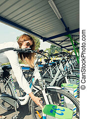 Electric bicycle station