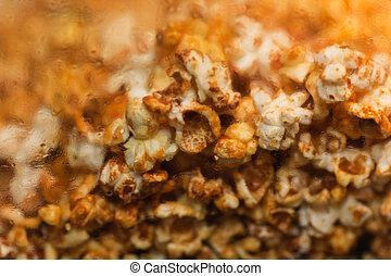 Popcorn snack food - Unhealthy eating movie sweet popcorn...