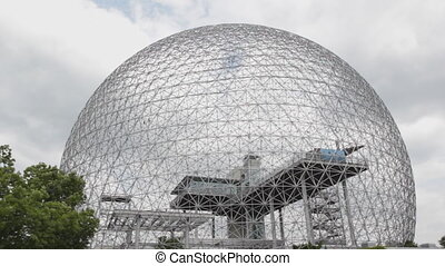 Geodesic dome. - Designed by Richard Buckminster Fuller, the...