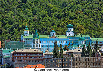 Russian St. Pantaleon monastery at Mount Athos - Russian St....