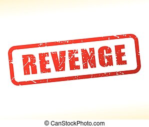 red text stamp - Illustration of revenge red text stamp