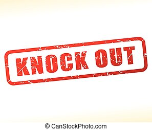 knock out red text stamp - Illustration of knock out red...