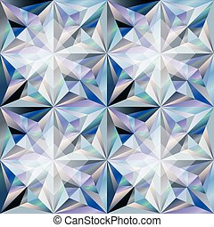 Diamond stone seamless wallpaper, vector illustration