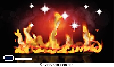 Digital Vector Abstract hot Fire flames Background. Ready for product placement and infographic, poster, ads, print or magazine