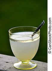 Sago with Syrup - A glass of Sago with sugar syrup