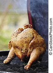 Barbecue Beer Chicken - Marinated and Barbecued Chicken...
