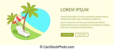 Tropical Island on Round Tag Isolated near Text - Tropical...