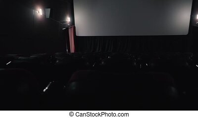 Empty cinema hall before the movie