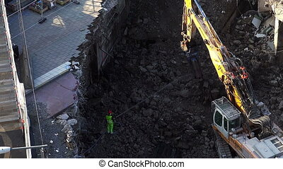 Repair of roads in the center of Stockholm. Sweden. - Repair...