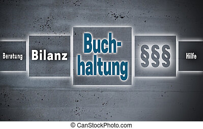 Buchhaltung (in german Accounting, Help, avice, end result)...